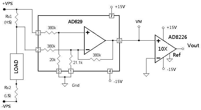 Схема измерения тока в